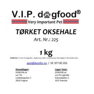 V.I.P. Tørket oksehaler 1kg