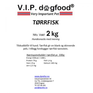 V.I.P. Tørrfisk 2kg eske